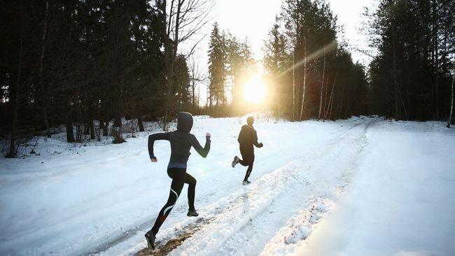 Laufen bei schnee und eis